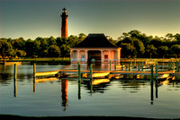 Boathouse and Lighthouse