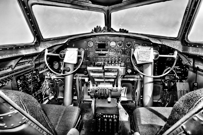 Ready For Flight in B&W